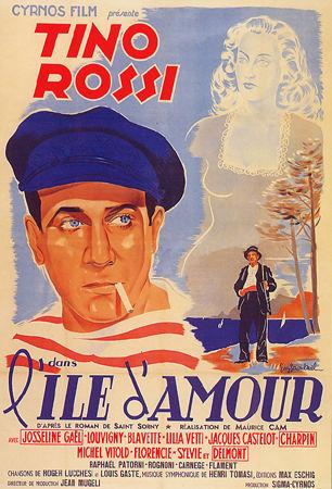Affiche du film de Maurice Cam (1944), avec Tino Rossi, musique d'H. Tomasi