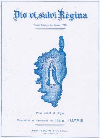 Couverture de la partition du Dio vi salvi Regina reconstitué et harmonisé par Henri Tomasi - 1936