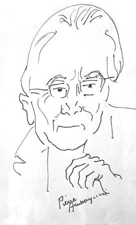 Portrait d'Henri Tomasi par le peintre Pierre Ambrogiani (Face) - 1969