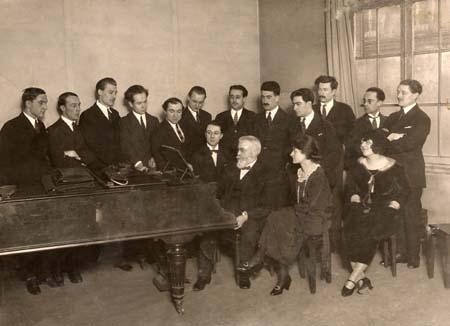 H. Tomasi en Classe de Composition - CNSM Paris - Pr Vidal - 1926