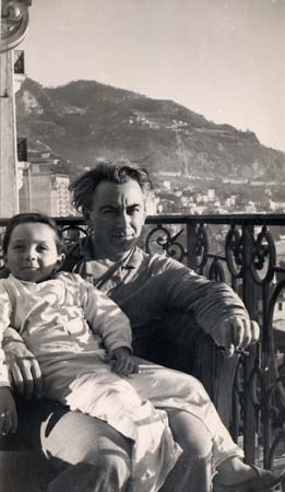 H. Tomasi et son fils Claude à Monte-Carlo - 1948