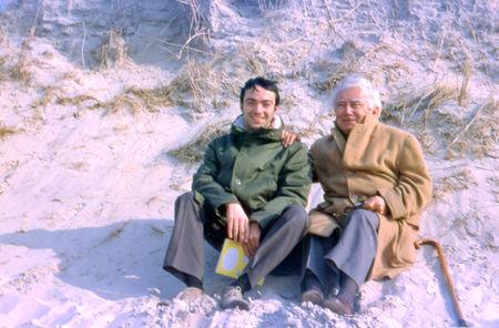 H. Tomasi et son fils Claude à St-Valéry-sur-Somme - 1969
