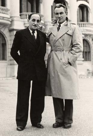 H. Tomasi à Monaco avec V. Scotto - 1949 (Photo détaillée)