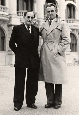 H. Tomasi à Monaco avec V. Scotto - 1949 (Photo détaillée)