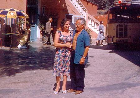 Henri Tomasi et son épouse Odette Camp - Albo (Corse) - 1959