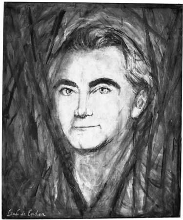 Portrait d'Henri Tomasi par le peintre Lief de Enden - 1987