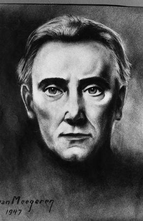 Portrait de d'H. Tomasi par le peintre H. Van Meegeren - 1947