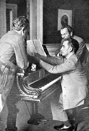 """Répétition au piano, """"Concertgebouw"""" - Amsterdam - 1947"""