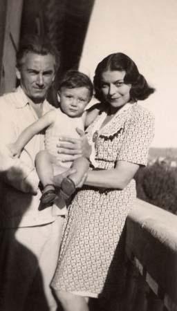 Photo de famille à Nice - 1945-46