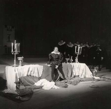 Représentation de Miguel Mañara à Bruxelles - 1958 (Photo H. Lapaille)