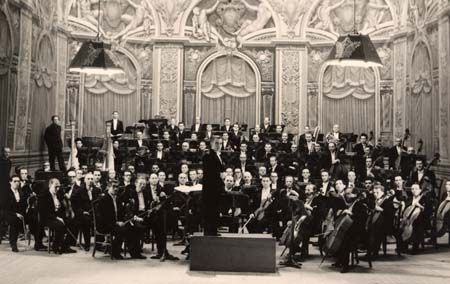 L'orchestre de l'Opéra de Monaco - 1947